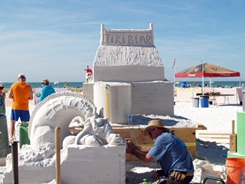 Sarasota sand sculpting contest on Siesta Key