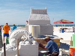 Sarasota sand sculpting contest on Siesta Key