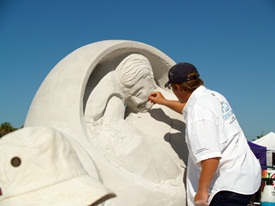 Sand Sculpting under the sun on Siesta Key