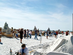Siesta Key Florida annual sand sculpting competition near Sarasota
