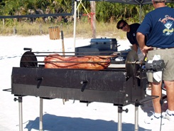 Pig Roasting at the Siesta Key sand sculpting contest
