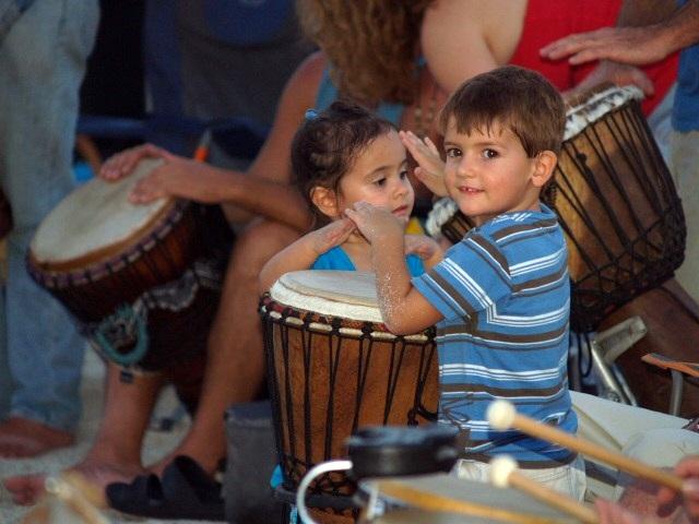 Nokomis Drum Circle Children Drumming