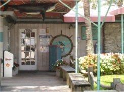 The entrance to Sharkys on the Pier in Venice Florida