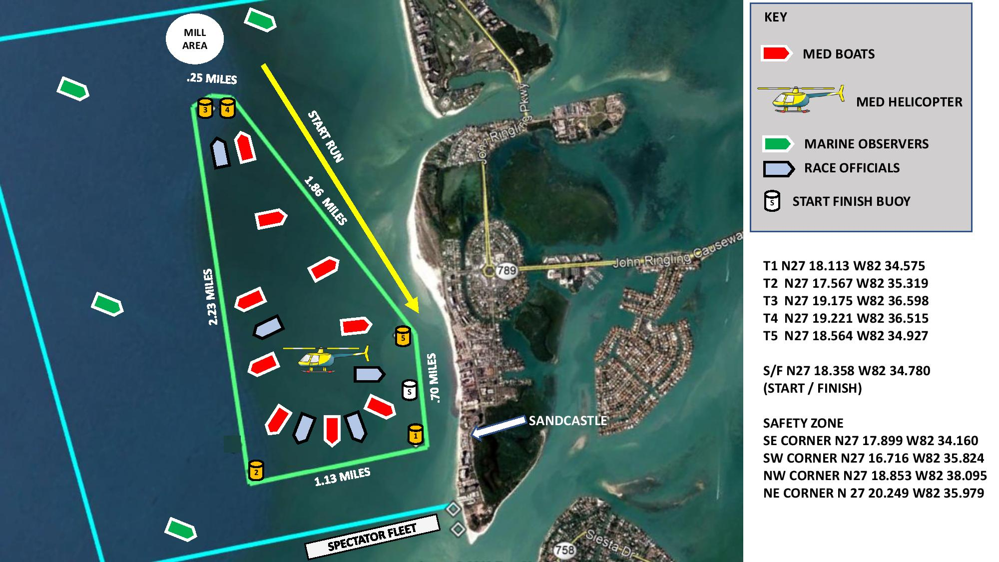 2019 Offshore Powerboats Course Map