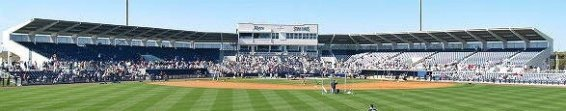 Center Field View of Tampa Bay Rays Spring Training Facility in Port Charlotte Florida