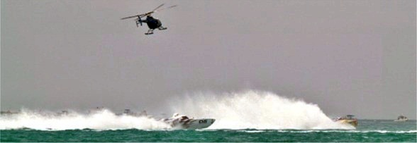 Offshore power boat racing off Lido Beach Florida