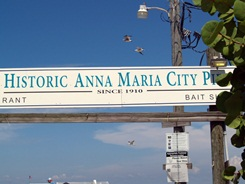 Anna Maria Florida City Pier Entry