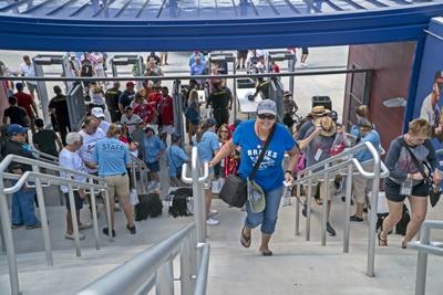 Atlanta Braves fans at Cool Today Park