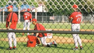 Cincinnati Reds at Spring Training Practice Sarasota Florida