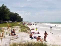 Cortez Beach on southwest Anna Maria Island Florida near Bradenton Florida