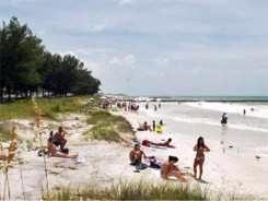 Cortez Beach on southwest Anna Maria Island Florida near Bradenton Florida