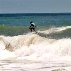 Another view of Florida Surfing at Cortez Beach on Southwest Anna Maria Island Florida