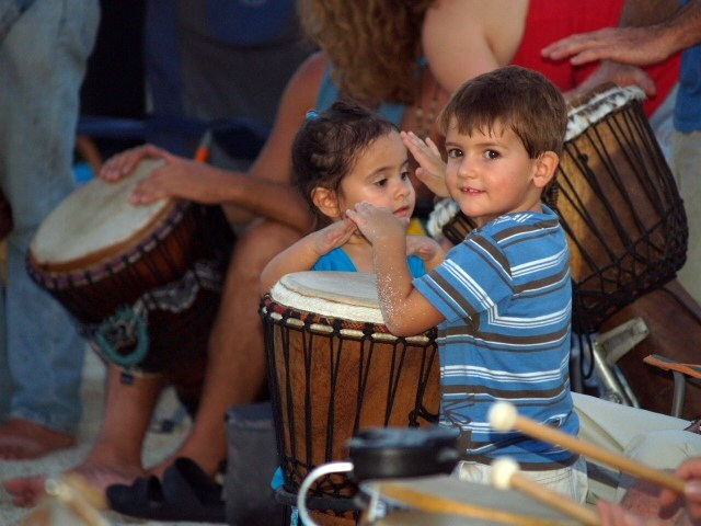 Nokomis Drum Circle Children Drumming