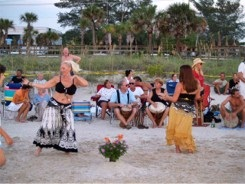 Girls Dancing at the Drum Circle at Nokomis Beach