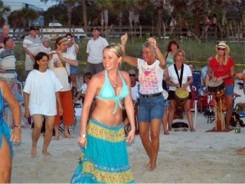 Nokomis Drum Circle Dancing Girls