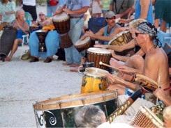 Drummers at Nokomis Beach Florida