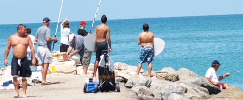 Venice Jetty Fishing off Casey Key