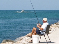 Fishing at the Venice Florida Jetty
