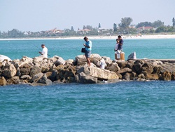 Fishing at the Venice Jetty Pier