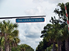 Legacy trail sign in Sarasota Florida
