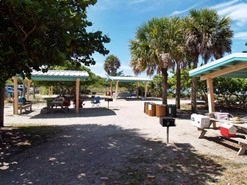 Manasota Beach Florida Picnic Table Shelters
