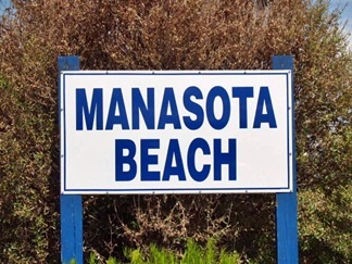 Manasota Beach Florida Sign