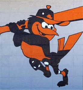 Orioles Logo and Mascot at Spring Training