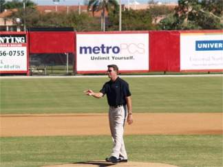 Orioles legend Jim Palmer on the mound at Ed Smith Stadium Sarasota Florida