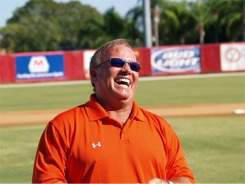 Orioles Manager Dave Trembley at Ed Smith Stadium Sarasota Florida