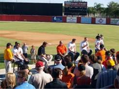 The Orioles fan forum at Ed Smith Stadium Sarasota for Fan Fest 2009