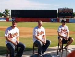 The Orioles fan forum at Ed Smith Stadium Sarasota Florida for Fan Fest