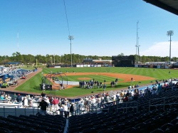 Tampa Rays spring training at Charlotte County Florida Sports Park Stadium