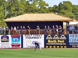 Tampa Rays Spring Training Stadium Tiki Hut in Center Field