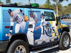 Tampa Rays Spring Custom Hummer