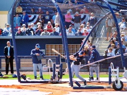 Tampa Rays at batting practice