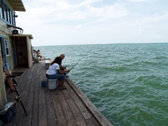 Fishing at Rod and Reel Pier Anna Maria Island Florida