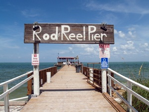 Entrance to Rod and Reel Pier Anna Maria Island Florida
