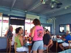inside dining at rod and reel pier restaurant anna maria island florida
