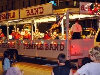Live music at the Sarasota Holiday Parade in downtown Sarasota Florida