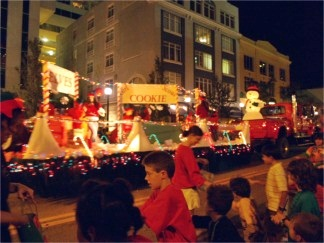 The Downtown Sarasota Holiday Parade on Main Street