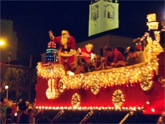 Santa Claus in the Sarasota Holiday Parade