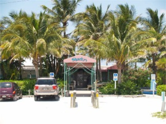 The entry to Sharkys on the Pier at Venice Florida