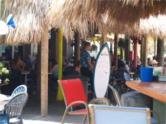 The Tiki Bar at Sharkys on the Pier Venice Florida