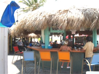 The Tiki Bar at Sharkys on the Pier in Venice Florida