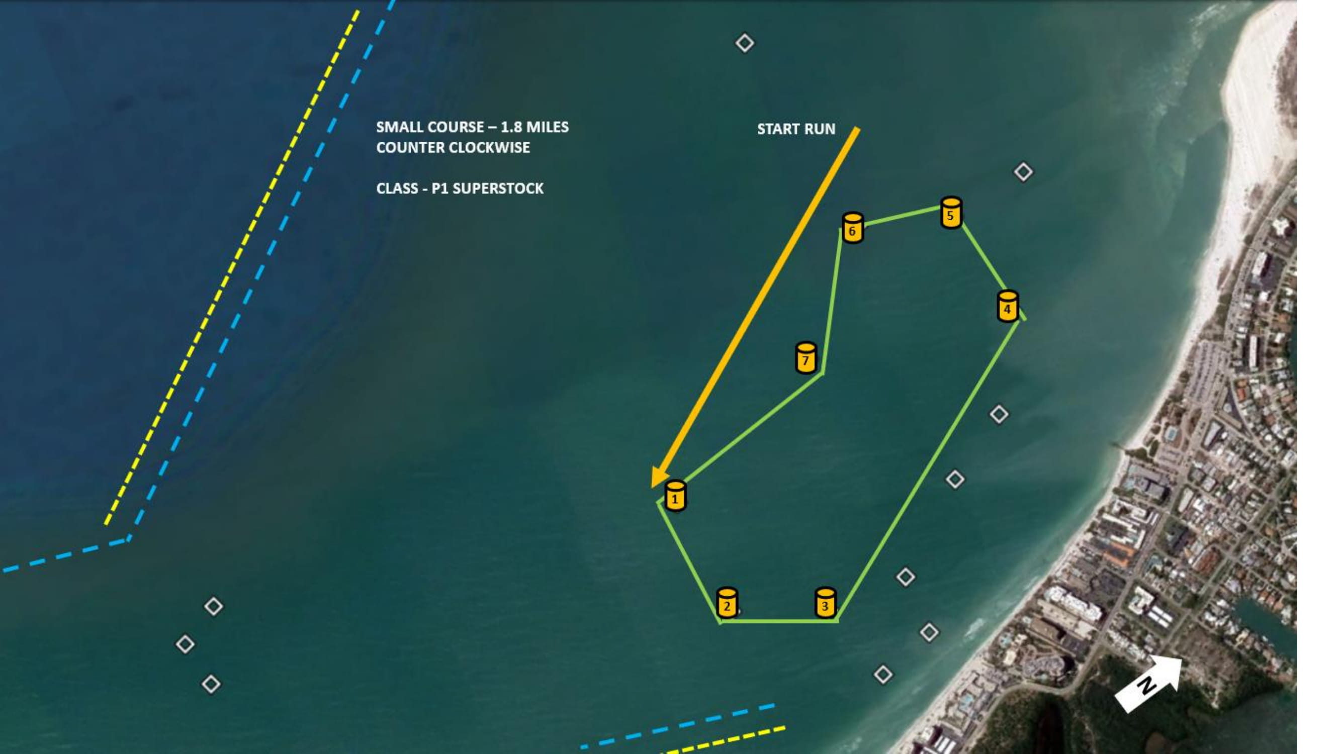 Sarasota Offshore Grand Prix Super Stock Boat Course