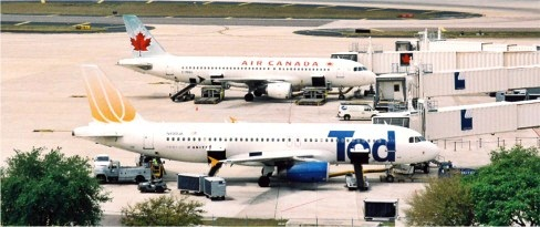 Planes on tarmac of tampa Intl Airpor