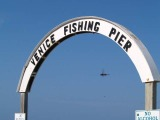 venice fishing pier sign at entrance venice florida
