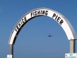 venice fishing pier sign at entrance venice florida