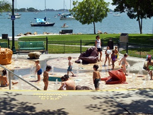 Children's play fountain in Sarasota