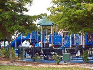 Children's playground in sarasota's Bayfront Park